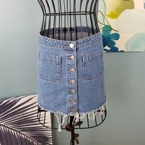 COPY - Brandy Melville denim mini button up skirt…